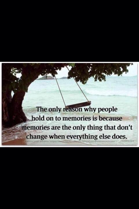 herinneringen zijn blijvend wanneer alles verandert