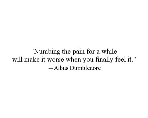quote nimbing the pain