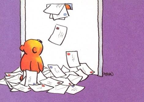 brievenbus stroomt vol kaarten