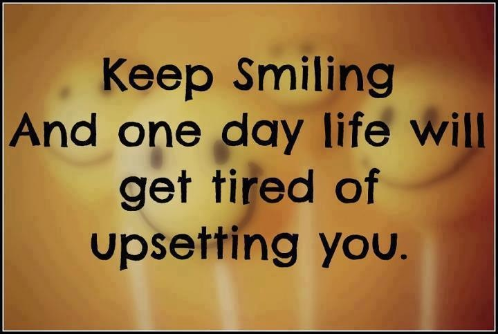 quote keep smiling