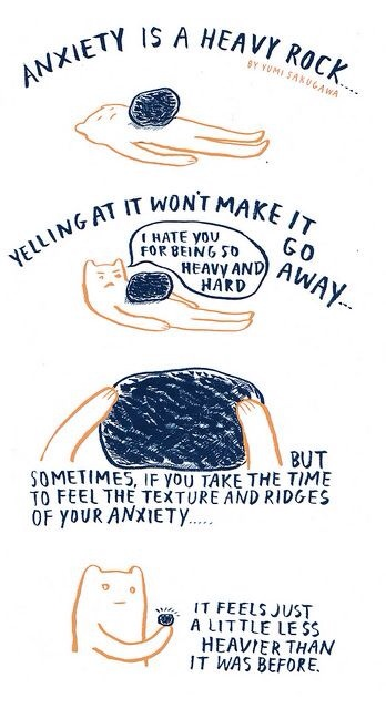 anxiety is a heavy rock