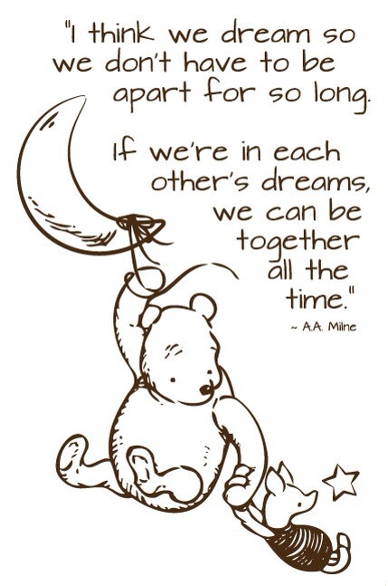 dream so we can be together- Pooh