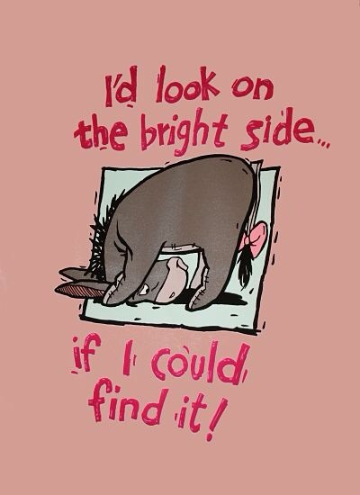 quote eyor I'd look at the bright side if I could find it