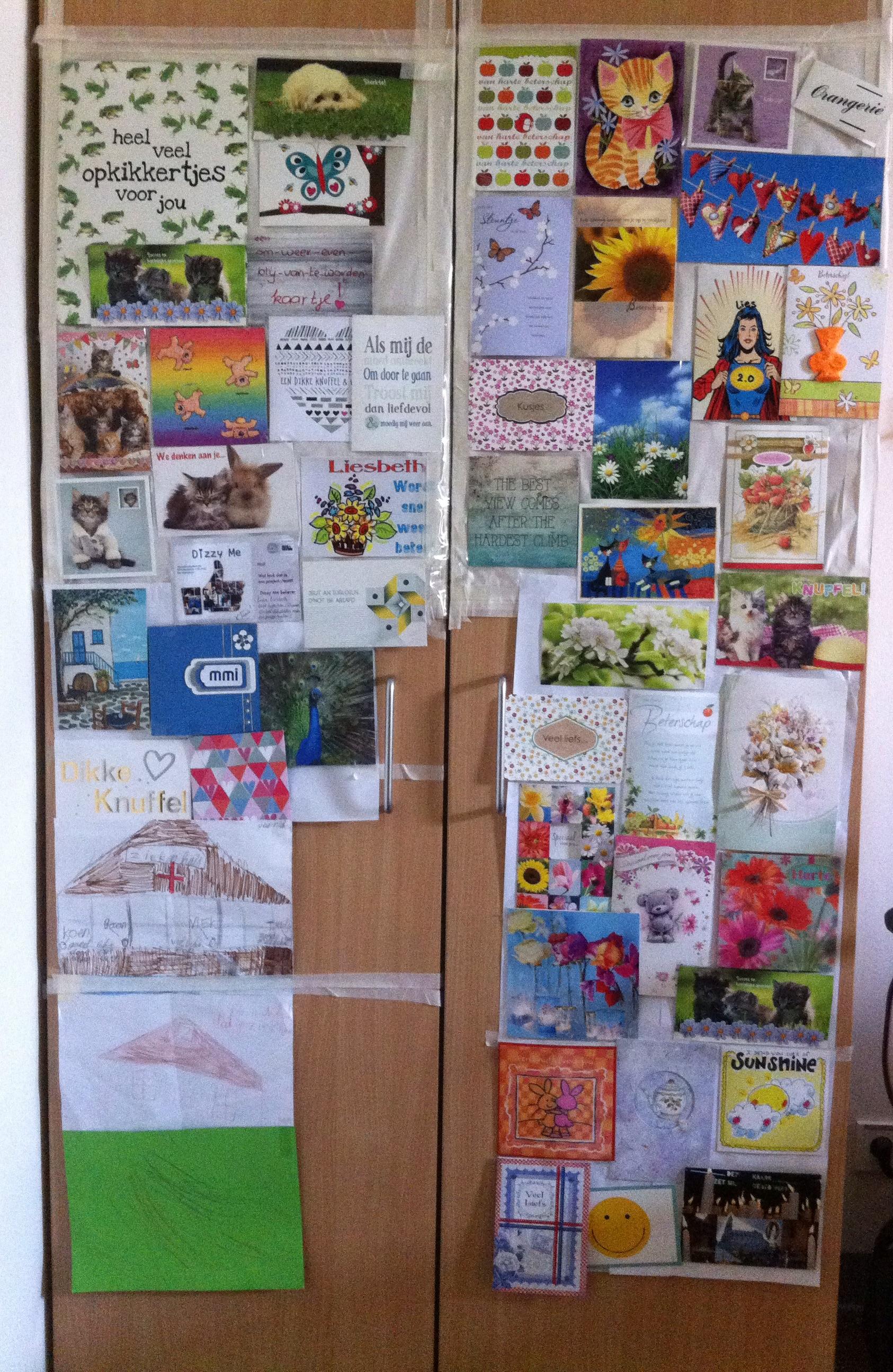 kastdeuren vol kaarten